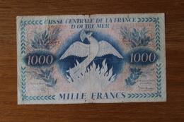 Billet  De Banque  1000 Francs Caisse Centrale D'outre Mer  Guadeloupe Phénix - France
