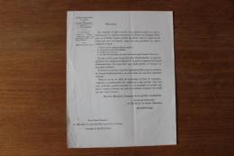 Legion D'Honneur Circulaire De Macdonald Pour Les Futurs Legionnaires - Documenti Storici