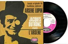 """SP 45tours : BO Du Feuilleton Télévisé """"ARSENE LUPIN"""" Par JACQUES DUTRONC (1970) - Musique De Films"""