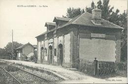 14 CPA GLOS SUR LISIEUX La Halte Gare - France