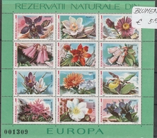 Romania Roumanie 1987 - Fleurs Blumen Flower - Bloc Europa - Flora