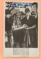 CPA -  L'INDIEN SIOUX BIG CHIEF WHITE HORSE EAGLE SIGNANT LIVRE D'OR A L'ARC DE TRIOMPHE PARIS EN 1928 - USA  COLORADO - Arc De Triomphe