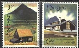 Denmark - Faroe Islands 198-199 (complete.issue.) Fine Used / Cancelled 1990 Postal Facilities - Faroe Islands