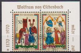 Lichtenstein 1970 MiNr.527 - 528 Aus Block 8 O Gest. Minnesänger ( 2192a )günstige Versandkosten - Liechtenstein