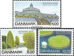 Denmark 1267-1269 (complete Issue) Unmounted Mint / Never Hinged 2001 400 Years Botanical Garden - Denmark