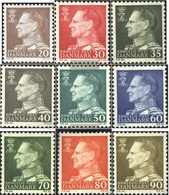 Denmark 390x-398x (complete Issue) Unmounted Mint / Never Hinged 1961 King Frederik IX. - Danimarca