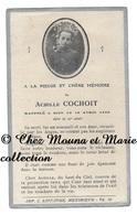 ACHILLE COCHOIT NE EN 1905 DECES EN 1920 LE 10 AVRIL - IMPRIMERIE MEXIMIEUX AIN - AVIS DE DECES - Décès