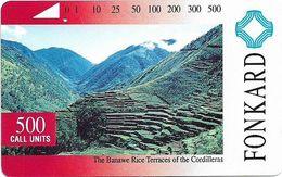 Philippines - PLDT - The Banawe Rices Terraces - Tamura - 500Units, 1993, Used - Philippines