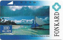 Philippines - PLDT - The Boracay Beach In Aklan - Tamura - 100Units, 1993, Used - Philippines