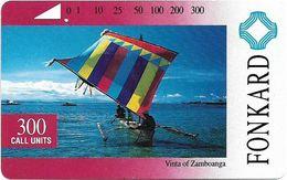 Philippines - PLDT - Vinta Of Zamboanga - Tamura - 300Units, 1993, Used - Philippines