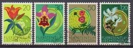 Lichtenstein 1970 MiNr.521 - 524 O Gest. Blumen Aus Lichtenstein ( 2376 )günstige Versandkosten - Liechtenstein