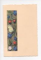 Le Livre D'Heures Du Maître Aux Fleurs (manuscrit XVè S.) Bibliothèque De L'Arsenal (cp Double Voeux) - Arts