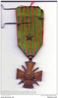REPUBLIQUE FRANCAISE  : CROIX DE GUERRE 1914-1918 - Frankrijk