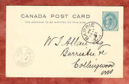 Ascher P 18 Koenigin Viktoria, Barrie Nach Collingwood 1903 (57759) - 1860-1899 Reign Of Victoria