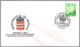 PRIMER CORREO A VELA MONACO A PALMA DE MALLORCA (BALEARES). Monaco 1988 - Correo Postal