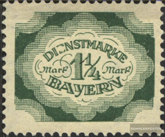 Bavaria D57I, E In DIeNST Maimed Unmounted Mint / Never Hinged 1920 Farewell Series - Bavière