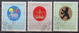 Lichtenstein 1970 MiNr.533 - 535 O Gest. Wappen Geistlicher Patronatsherren ( 2395 )günstige Versandkosten - Liechtenstein