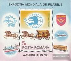 Rumänien Block258 (kompl.Ausg.) Postfrisch 1989 BriefmarkenausstellungWorldStamp - 1948-.... Républiques