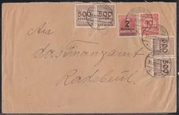 DR Brief Mif Minr.312A,4x 313,318A Moritzburg 31.10.23 Seltener Stempel - Deutschland