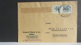 SBZ: Fern-Brief Mit 12 Pf  SBZ-Aufdruck MeF  SoStpl. Bad Frankenhausen Vom  15.7.48  Knr: 186 - Sowjetische Zone (SBZ)