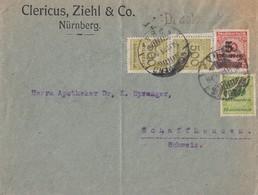 DR Brief Drucksache Mif Minr.2x 324,328,334A Nürnberg 30.11.23 Gel. In Schweiz - Deutschland