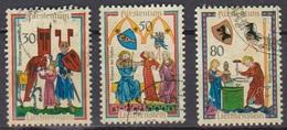 Lichtenstein 1969 MiNr.527,528,529 Aus Block 8 O Gest. Minnesänger ( 2390 )günstige Versandkosten - Liechtenstein