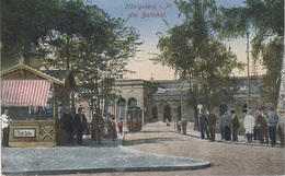 AK Königsberg Kaliningrad Bahnhof Trinkhalle Straßenbahn Tram Dworzec Stacija Gare Train A Tilsit Sowetsk Memel Klaipeda - Ostpreussen