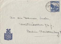 DR Brief EF Minr.528 Dt. Seepost Bremen New York - Deutschland