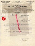 49- ANGERS-FACTURE ETS. BEAUVAIS ET ROBIN- EBRA- CHARRUES ACIER UNIVERSALA-  THUAU- A M. FROIDEFOND A LIBOURNE- 1933 - Artigianato