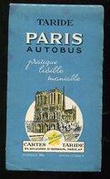 Nouveau Plan De Paris TARIDE RATP Autobus 1959 - Europe