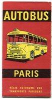 PARIS  R.A.T.P. Plan Autobus Réseau Urbain  1964 - Europe