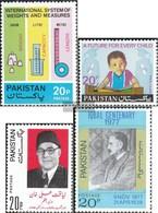 Pakistan 367,374,377,378 (completa Edizione) MNH 1974 Mole, Bambini, Khan, Iqbal - Pakistan