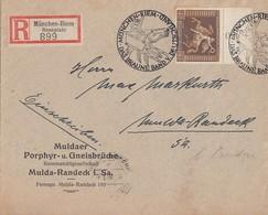 DR R-Brief EF Minr.671 SR SST München-Riem 31.7.38 Sonder-R-Zettel - Briefe U. Dokumente