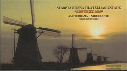 Latvia 575MH (complete.issue.) Stamp Booklet With 6x575D Unmounted Mint / Never Hinged 2002 Fish - Latvia