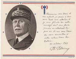 Photo Et Mot Aux Prisonniers - Pétain - Francisque - Documenti Storici