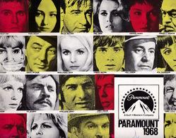 Rare ! Grand Programme Illustré Des Films De La Paramount Pour L'année 1968 - Cinema Advertisement