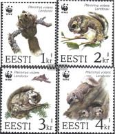 Estonia 229-232 (complete.issue.) Unmounted Mint / Never Hinged 1994 Gleithörnchen - Estonia