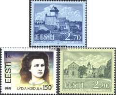Estonia 218,219,220 (complete.issue.) Unmounted Mint / Never Hinged 1993 Buildings, Koidula - Estonia
