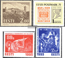 Estonia 213,214,216-217 (complete.issue.) Unmounted Mint / Never Hinged 1993 Buildings, Philately, Churches - Estonia
