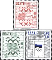 Estonia 180-182 (complete.issue.) Unmounted Mint / Never Hinged 1992 Summer - Estonia