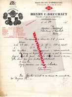 32 - GONDRIN - GERS- RARE LETTRE MANUSCRITE HENRY C. BRUCHAT-DISTILLERIE- DISTILLATEUR-EAUX DE VIE ARMAGNAC- 1915 - Alimentaire