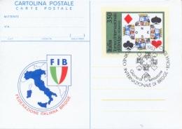 Italia 1983 FDC Intero Postale Cartolina 350 Lire Torneo Internazionale Di Bridge A Roma - Giochi