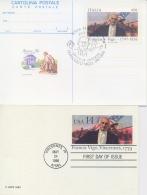 Italia USA 1986 Emissione Congiunta Joint Issue FDC Intero Postale Cartolina 450 Lire + Postcard 14 Cent Francesco Vigo - Indipendenza Stati Uniti