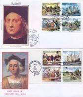 Italia USA 1992 Emissione Congiunta Joint Issue FDC FILAGRANO Cristoforo Colombo First Voyage To America 2 Covers - Cristoforo Colombo