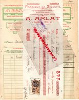 32- AUCH- MANDAT + FACTURE A. ARLAT- FABRIQUE BISCUITS-L' AUSCITAIN SURFIN- BISCUIT VANILLE- GERS- 1927 - Alimentare