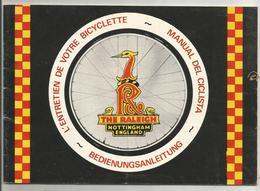Livret  D Entretien  Bicyclette  Velo   Raleigh  39 Pages - Altri