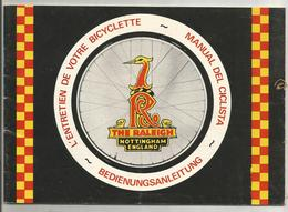 Livret  D Entretien  Bicyclette  Velo   Raleigh  39 Pages - France