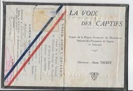 """Carte De Presse MNPGD, Organe De Le Région Normande , """"LA VOIX DU CAPTIF"""" Dir JEAN TICHIT - Documenti Storici"""