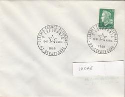 LSC 1969 -  STRASBOURG - Cachet Congrès  Franco Allemand D' ESPERANTO - STRASBOURG - Esperanto
