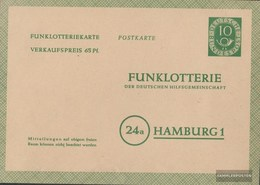 BRD FP3 Funklotterie-Postkarte Gebraucht 1952 Posthorn - BRD